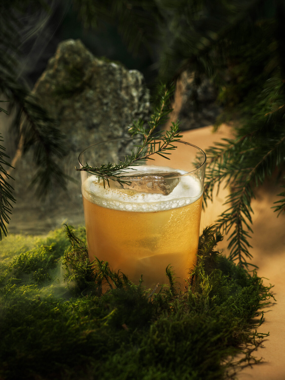 Villbrygg cocktail drink Skog Tonic Foto Dag Dalvang