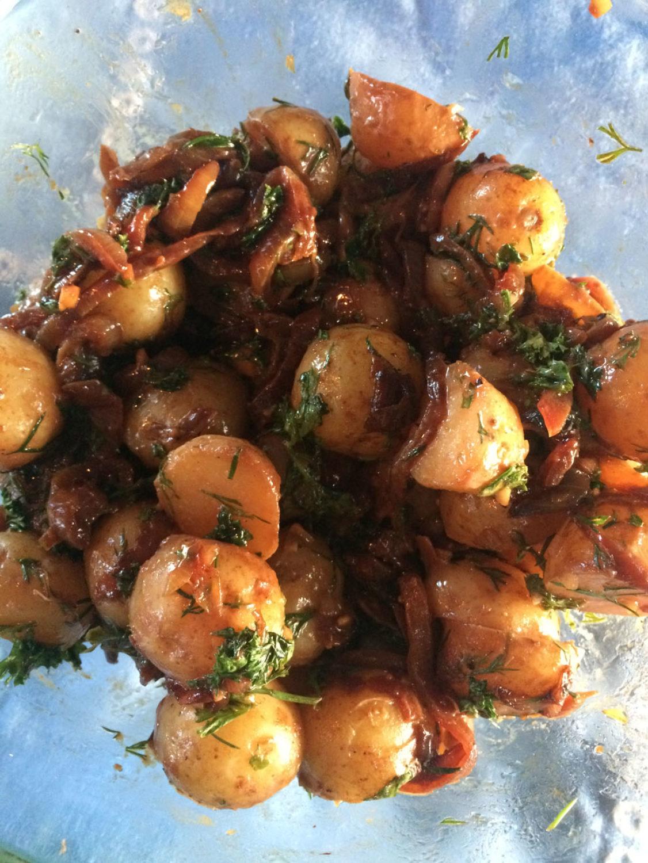 Potetsalat Med Karamelisert Løk