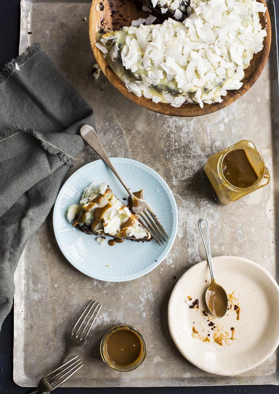 Svart Hvit Sjokoladekake Ren Mat